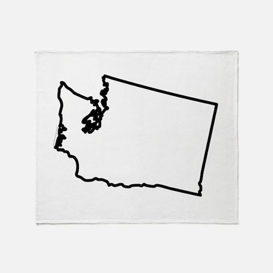 Washington State Outline Throw Blanket