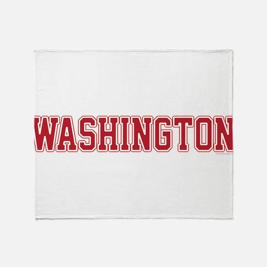 Washington Jersey Red Throw Blanket