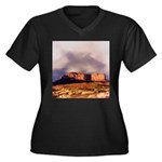 Monument Valley Storm Women's Plus Size V-Neck Dar