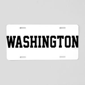 Washington Jersey Black Aluminum License Plate