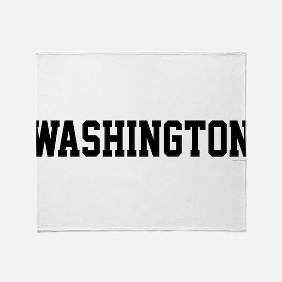 Washington Jersey Black Throw Blanket