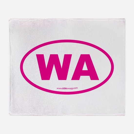 Washington WA Euro Oval PINK Throw Blanket