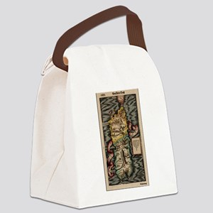 Vintage Map of Sardinia Italy (16 Canvas Lunch Bag