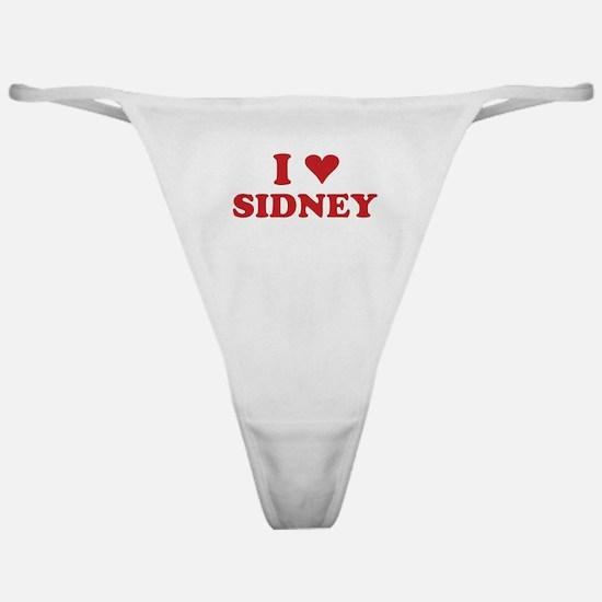 I LOVE SIDNEY Classic Thong