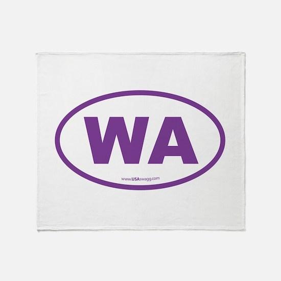Washington WA Euro Oval PURPLE Throw Blanket