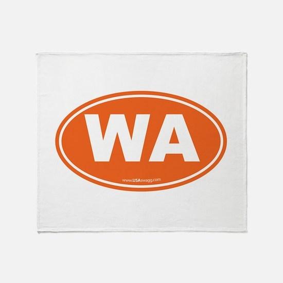 Washington WA Euro Oval ORANGE Throw Blanket