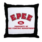 Epee Fencing Dept Throw Pillow