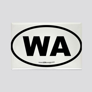 Washington WA Euro Oval Rectangle Magnet