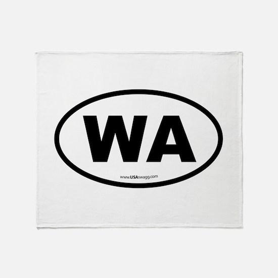 Washington WA Euro Oval Throw Blanket