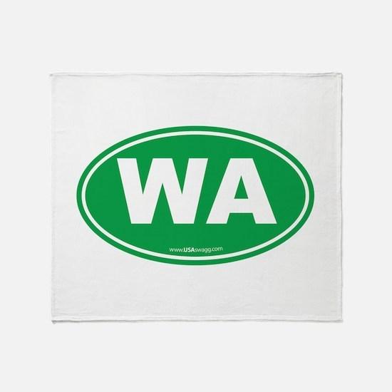 Washington WA Euro Oval GREEN Throw Blanket