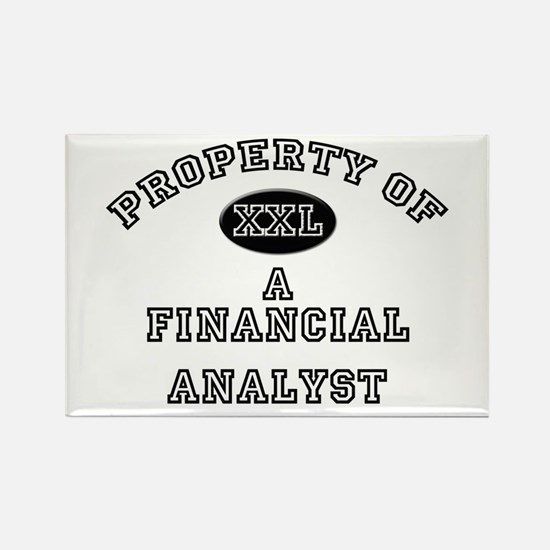 Property of a Financial Analyst Rectangle Magnet