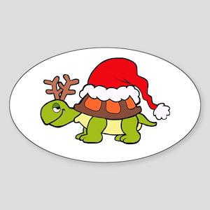Turtle Christmas Sticker