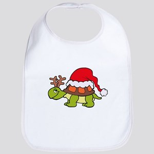 Turtle Christmas Bib