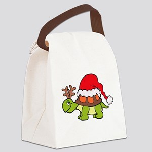 Turtle Christmas Canvas Lunch Bag