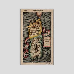 Vintage Map of Sardinia Italy (16th Centu Area Rug