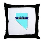 True Blue Nevada LIBERAL Throw Pillow