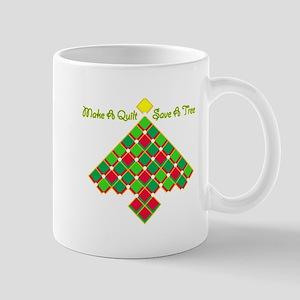 xmas treesave quilt gold clear Mug