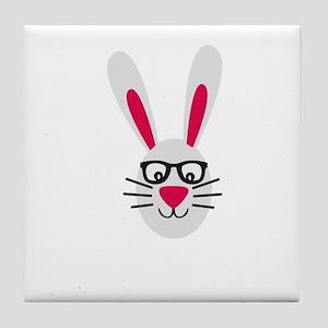 Nerd Rabbit Tile Coaster