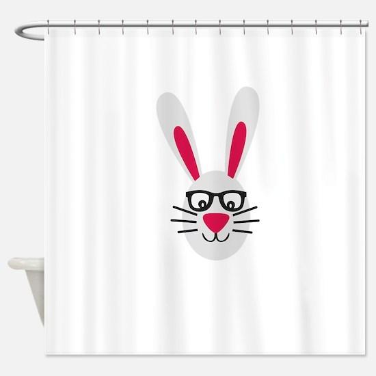 Nerd Rabbit Shower Curtain