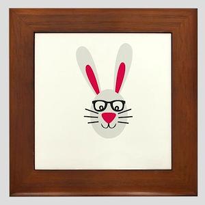 Nerd Rabbit Framed Tile