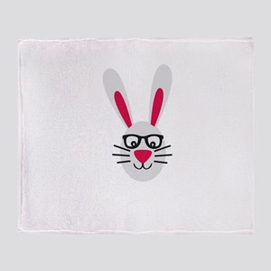 Nerd Rabbit Throw Blanket