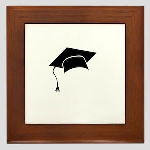 Graduation hat Framed Tile