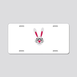 Nerd Rabbit Aluminum License Plate
