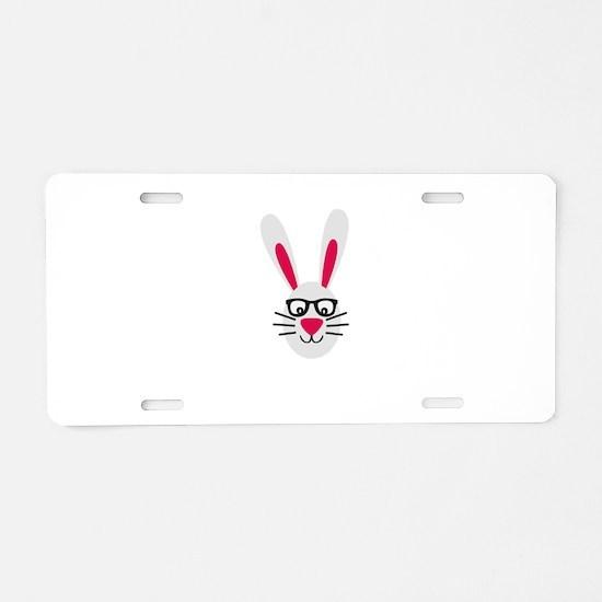 Nerd Rabbit Aluminum License Plate