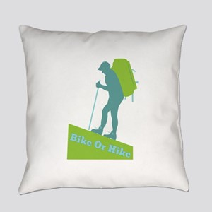 Bike Or Hike Everyday Pillow
