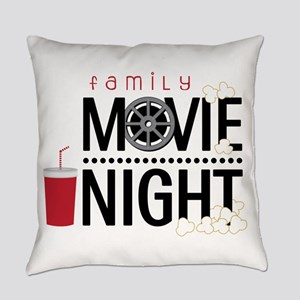 Family Movie Night Everyday Pillow