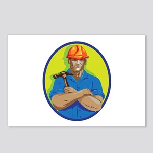 Construction Worker Foreman Arms Crossed WPA Postc