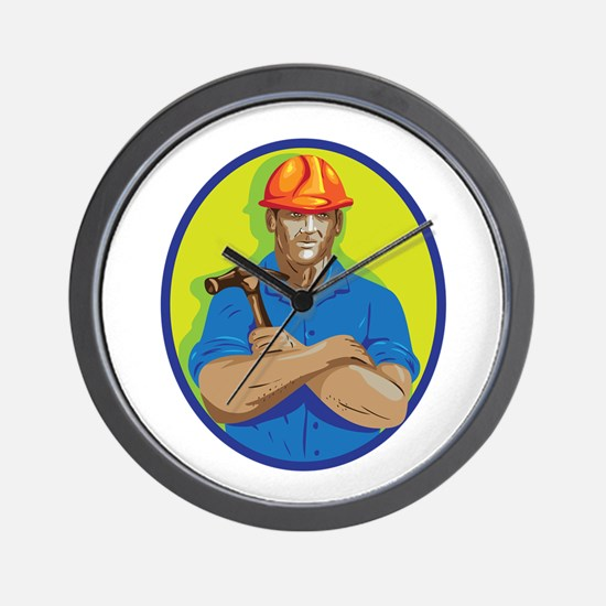 Construction Worker Foreman Arms Crossed WPA Wall