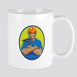 Construction Worker Foreman Arms Crossed WPA Mugs