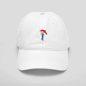 Worker Marching Flag Bearer WPA Baseball Cap