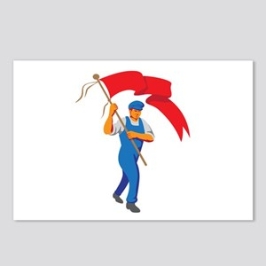 Worker Marching Flag Bearer WPA Postcards (Package