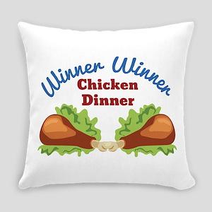 Chicken Dinner Everyday Pillow