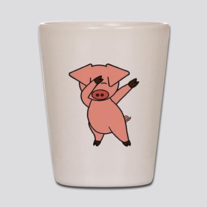 Dabbing Pig Shot Glass