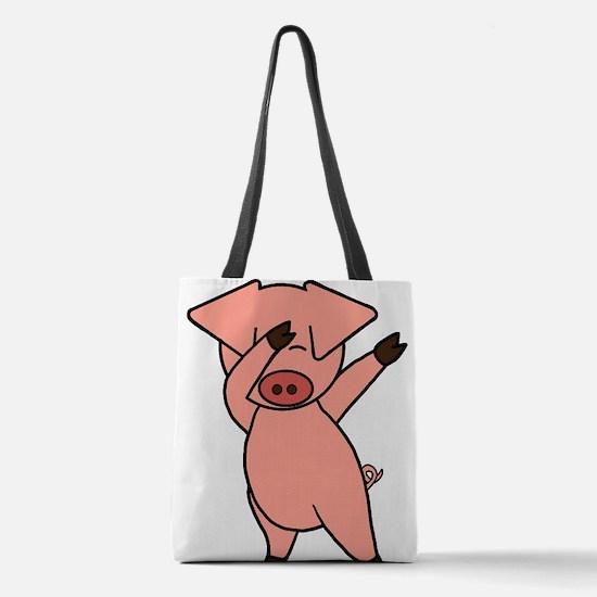 Dabbing Pig Polyester Tote Bag