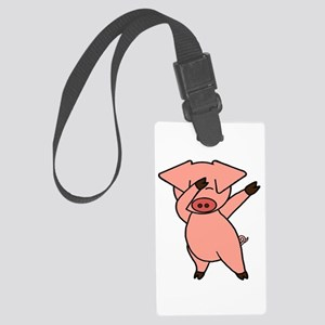Dabbing Pig Large Luggage Tag