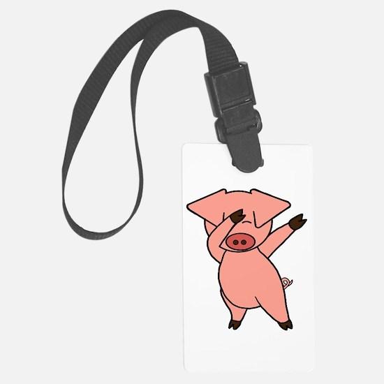 Dabbing Pig Large Luggage Tag