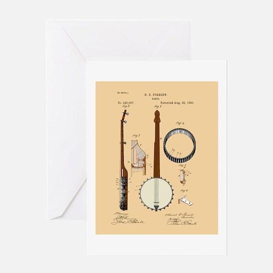Banjo Patent Greeting Card