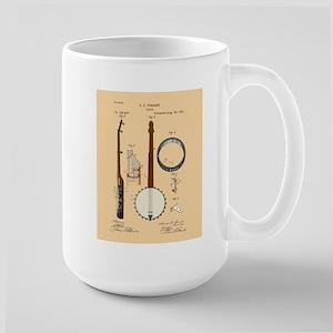 Banjo Patent Large Mug