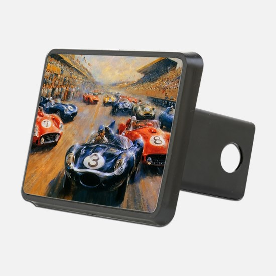 Vintage Car Race Painting Hitch Cover