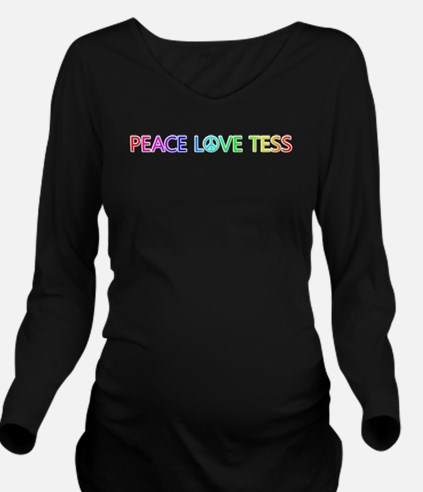 Peace Love Tess Long Sleeve Maternity T-Shirt