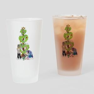 Winter Holiday Love Tree Drinking Glass