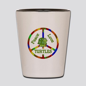 Peace Love Turtles Shot Glass