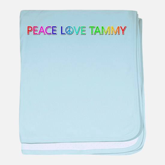 Peace Love Tammy baby blanket
