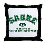 Sabre Fencing Dept Throw Pillow