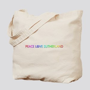 Peace Love Sutherland Tote Bag