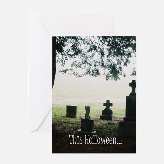 Ghost Hunter Halloween Greeting Card